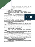Tematica Pentru Examene Stagiu Si Definitivat Consilieri Juridici