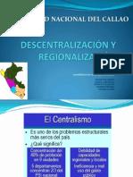 Descentralizacion y Regionalizacion
