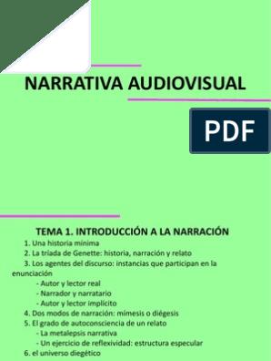 Narrativa Audiovisual Estrategias Y Recursos Narración