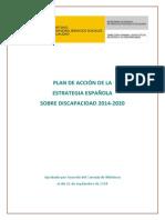 Plan de Acción de La Estrategia Española Sobre Discapacidad 2014 -2020.