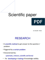 1. Scientific Writing