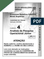 Analista de Pesq Op Junior