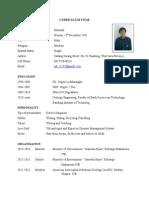 Curriculum Vitae of DARMADI