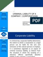 criminalliabilityofcompany-130302034833-phpapp01