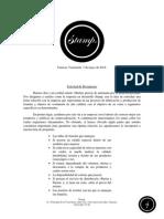 Carta de Presupuesto, Franelas