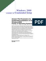 Microsoft® Windows® 2000 Unattended Setup