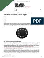 Memahami Mode-Mode Kamera Digital Dan DSLR