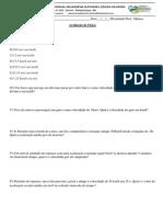2º Prova de Física ( 25 Copias)