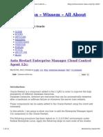 Auto Start Enterprise Manager Cloud Control Agent 12c Oracl