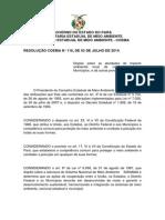 Resolução do Coema 116 de 2014 - Conpetência Dos Municípios - Pará