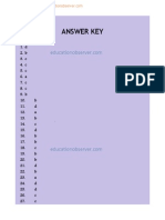 CAT 2011 Solved Paper Answer Key