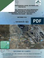 Presentación avance del estudio de riego Huaripampa - Perfil