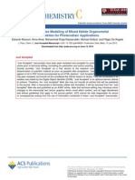 First Principles Modeling of Mixed Halide Organometallic perovskites