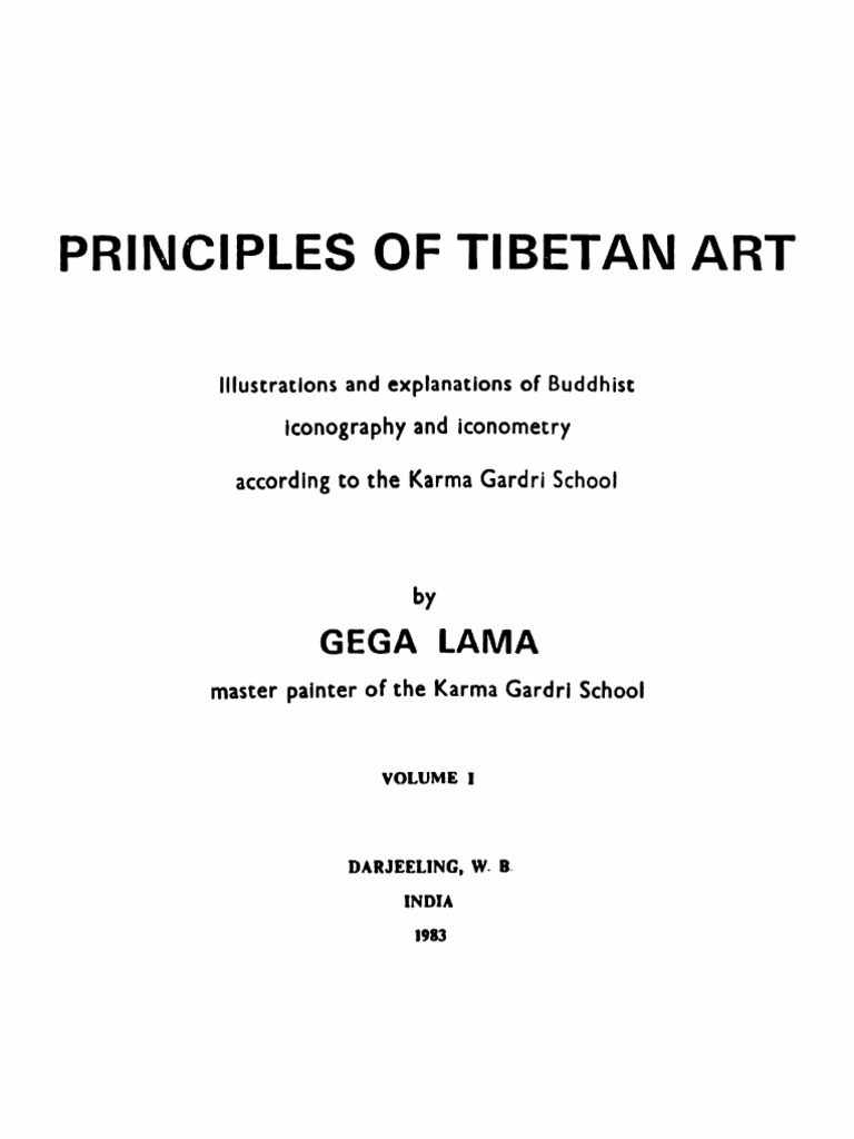 Gega Lama Principles Of Tibetan Art Illustrations And Explanations