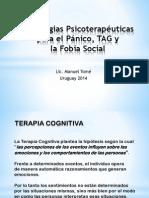 Estrategias Psicoterapéuticas para Pánico, TAG y Fobia Social