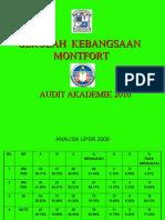 Audit Akademik SK Montfort Tov 2010
