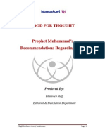 Prophet Muhammads Recommendations Regarding Food