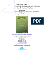 Miraculous Self Healing Homoeopathic Principals Therapeutics Materia Medica Ajit Singh Barn.05633 2Foreword Preface