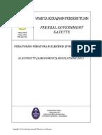 Electricity Regulations Amendments 2013