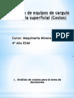 Selección de Equipos de Carguío en Minería Superficial Costos