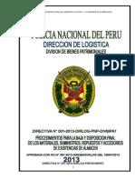 Directiva 001-2013-Dirlog-divbipat Baja Existencias Almacen