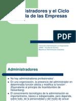Administradores y El Ciclo de Vida de Las Empresas
