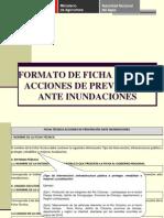 Exposicion Llenado Del Formato Ficha Tecnica Acciones de Prevención Ante Inundaciones 2011