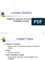 Measures of Dispersion and Some Basic Probability