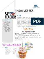 July Newsletter 2014