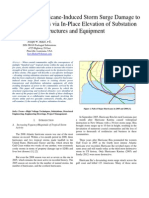 Eliminating Hurrican-Induced Storm Surge Damage to Electric Utilities via in-place Elevation of Substation Structures and Equipment