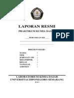Cover Praktikum Kimia Dasar Fakultas Teknik Undip