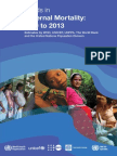 WHO Trends in Maternal Mortality