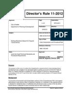Seattle DPD Director's Rule 11-2012