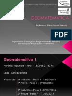 Aula 1 - Geomatemática I