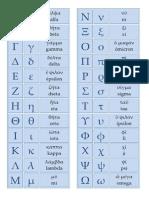 Bingo Alfabeto Griego (Plantilla y Fichas)