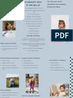 child growth and development informative brochure