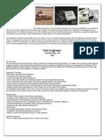 Test Engineer Description