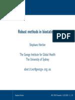 Robust Methods in Biostatistics