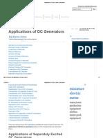 Applications of DC Generators _ Electrical4u