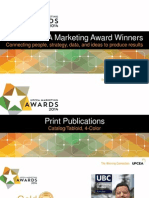 UPCEA 2014 Marketing Awards Recipients Gold-Silver-Bronze