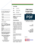 A Basic Course in Corrosion Control and Prevention