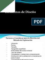 Elementos de Diseño - Metodo de Explotacion