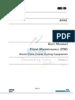 Bsnl Wtp Pm Um 005 Create Testing Equipments v1.1x