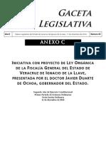 Iniciativa para la Fiscalía General del Estado, enviada por Javier Duarte de Ochoa