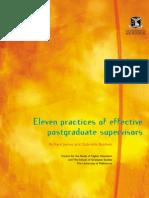 Effective Gradute Supervision