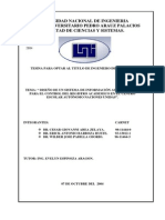 Diseño de Un Sistema de Informacion Para Registro Academico
