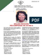 O.P.P. $50,000 Reward - Murder of Debra Himmelman