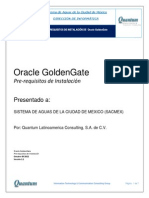 Prerrequisitos de Orcle Goldengate