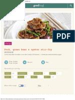 Pork, Green Bean & Oyster Stir Fry _ BBC Good Food Middle East