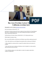 Bay Area Overtime Lawyer Explains California Overtime Laws